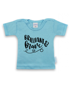 Brilliant and Brave - shirt met korte mouwen