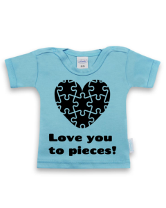 Love you to pieces - shirt met korte mouwen